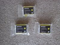 Genuine Epson T0714 ink cartridges