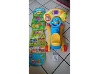 BARGAIN PRICE-VTech Grow and Go Ride-on-as good as new condition+Balamory Jump/play mat