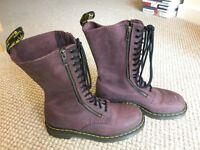 Dr Martens 1914 (9733), 14 hole boots, purple - size 7, unisex