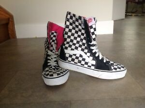Vans High Top Runners- Funky Vibe, Size 7.5 Women's, 6 Mens