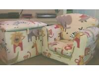 Children's arm chair and toy box