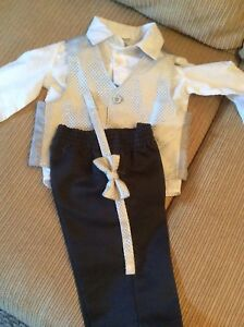 George Size 0-3 Suit with Bow tie