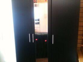 Black wardrobe