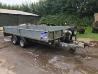 2014 Ifor Williams lm146 twin axle trailer 14ft bed 3500kg winch and sides