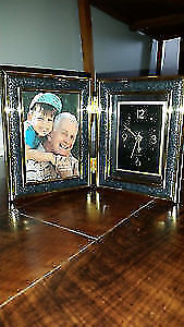Clock/Picture Frame, brand new