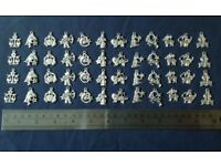 Star Sign Zodiac Charms silver plated 4 sets of 12 for bracelets necklaces etc
