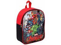 Avengers Hulk Iron Man Backpack Rucksack Travel Kids Work Nursery School Bag Red