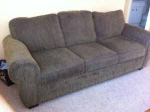 Beautiful solid couch and chair combo