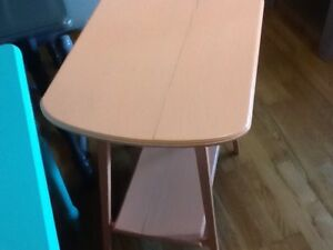 Accent soft orange 2 tier table $40 - 1 available