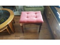 Vintage Retro Style Dressing Table Stool Piano Stool Footstool Foot Stool Pouffe Bedside Table