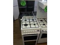 BEKO 50CM ALL GAS COOKER IN WHITE WITH LID