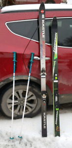 Skis & poles for sale