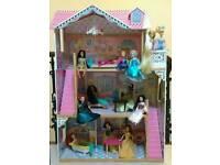 Disney Princesses and large dolls house.