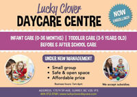 Lucky clover daycare center is enrolling, full time & part time