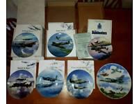 Collectible War Plane Plates