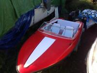 Boat 15 feet fletcher with tohatsu 50 PTT and trailer