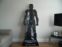 Life Size Cardboard Cut out of a Star Wars Deathtrooper.
