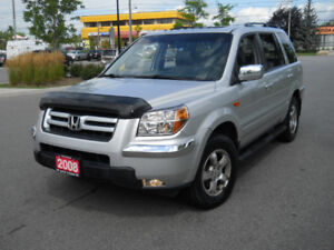2008 Honda Pilot, EX-L, 8 Pass, AWD,DVD, 3/Y waranty available