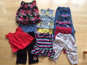 Lot vêtements fille 12 mois