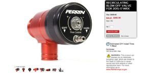 Perrin Reticulated Blow Off Valve (For Subaru WRX)