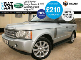 Land Rover Range Rover 4.2 V8 auto Supercharged Vogue SE+F/LR/H+CHEAP TAX+2OWNER
