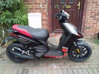 2013 Aprilia SR Motard 50 scooter, 2 stroke engine, new 1 year MOT, sporty exhaust, bargain, not zip