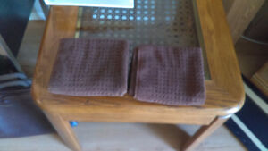 Brown Waffle Weave Face Towels