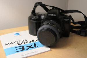 Minolta Maxxum 3xi Auto Focus Camera + Minolta Zoom Lens 35-70