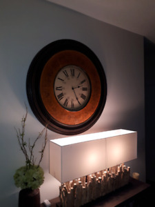 POTTERY BARN LARGE CLOCK..MOVING SALE