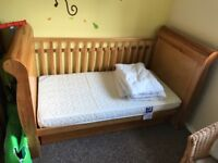 Cot bed Charnwood solid wood only slept in twice £150 ono