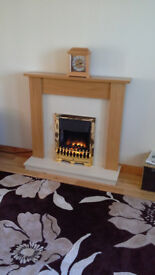 Solid Oak Fireplace / Electric Fire