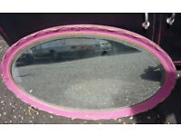 Vintage Oval Wall Mirror