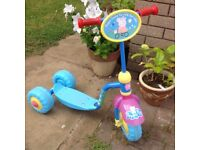 Child's Peppa Pig plastic scooter