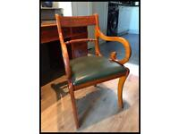 Reproduction Yew Wood Decorative Carver Armchair