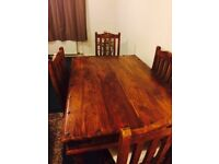 Thakat dining table and chairs (1 slat missing)