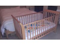 John Lewis Cot Bed with Cot Top Changer