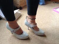 Diamante Prom/Wedding , Lady Jane Style Shoes.