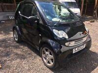 Smart car 2003 black panoramic roof alloys export as no mot