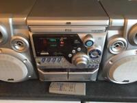 JVC STEREO, 3 cd disc changer, twin tape, am/fm radio