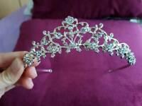 Beautiful silver plated swarowski tiara for sale