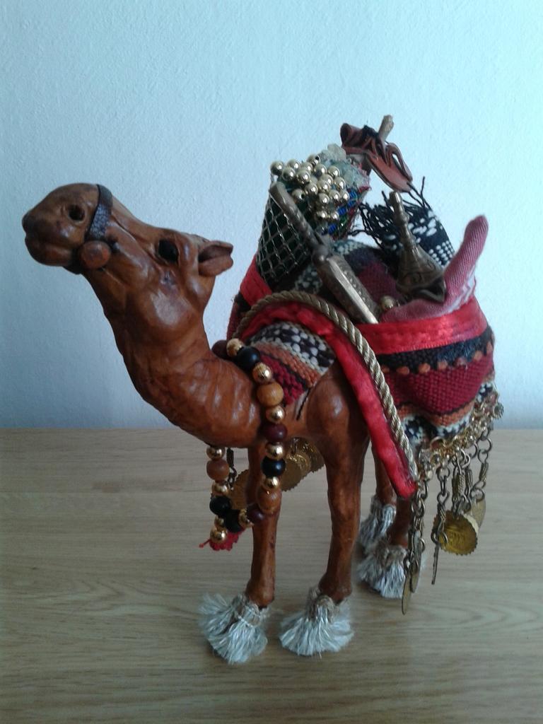 Decorative leather camel