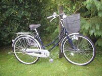 ladies fatcat 17 in frame bicycle,step thru,very tidy,runs well
