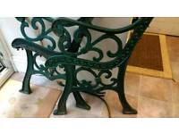 Wrought Iron Heavy Vintage Bench Ends