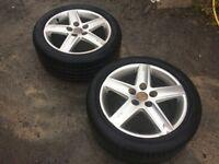 """2x Audi A4 17"""" 5 spoke alloys"""