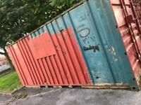 Lockable storage (metal) containers