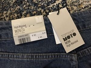 High waisted mom jeans from top shop size 26 waist
