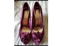 Monsoon purple peep toe heels. Size 7/40