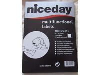 Niceday Blank White Sticky Address Labels 15 labels per sheet 100 sheets per pack 30+PACKS