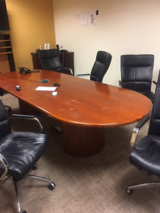 Mahogany Boardroom Table For Sale - North Vancouver