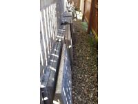 Used slabs for sale. 27 grey paving slabs 90cm x 60cm plus additional shaped pieces